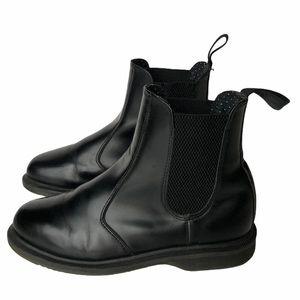 Dr. Martens Flora Black Leather Chelsea Boots